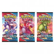 3-pack Pokemon Sword & Shield Battlestyles Booster Pokémon Samlekort