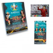 UEFA Euro 2020 kick off 2021 Fotball Booster kort Limited Edition og Album amlekort