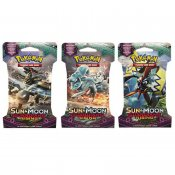 Pokemon 3-pakke Sun & Moon Rising Guardians Booster Blister Trading Cards