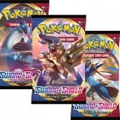 3-pakning med Pokemon Sword & Shield Booster samlekort