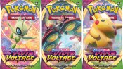 3-pack Pokemon Sword & Shield Vivid Voltage Booster Pokémon kort